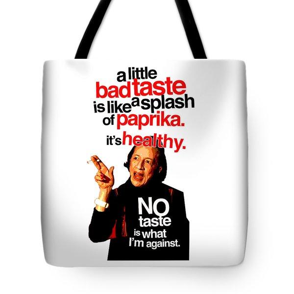 Diana Vreeland On Taste Tote Bag
