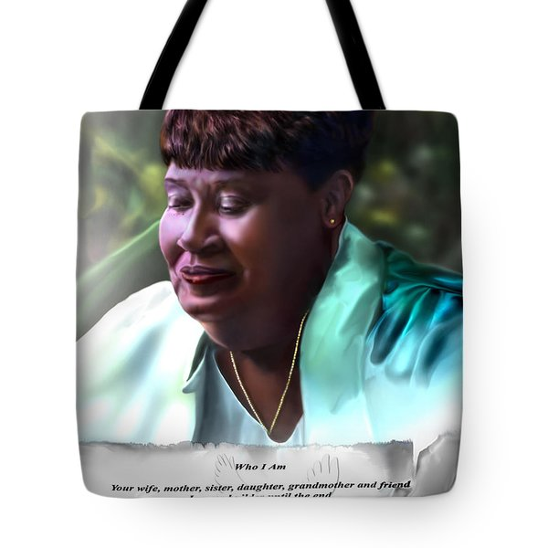 Diane E. Seymour Tote Bag by Reggie Duffie