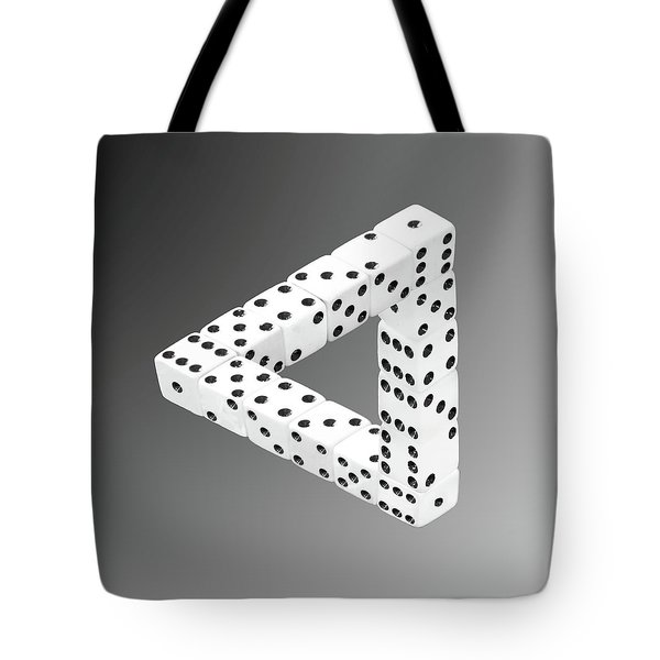 Dice Illusion Tote Bag