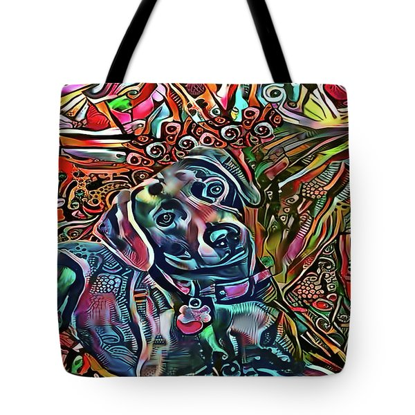 Did Somebody Say Treat? Blue Lacy Dog Tote Bag