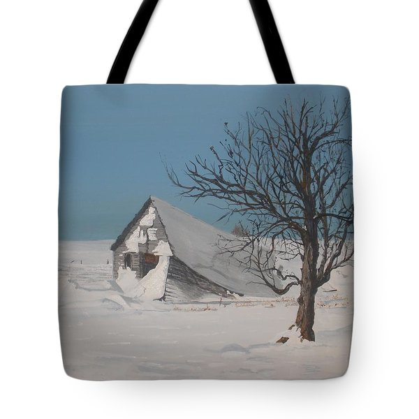 Tote Bag featuring the painting Didn't Anyone Care. by Betty-Anne McDonald