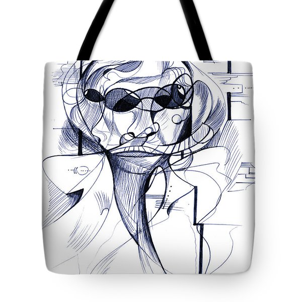 Diego At The Door Tote Bag by Nicholas Burningham