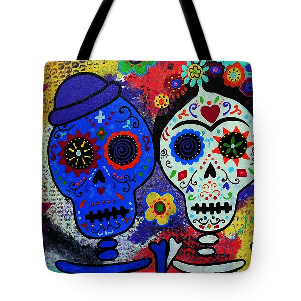 Diego Rivera And Frida Kahlo Dia De Los Muertos Tote Bag