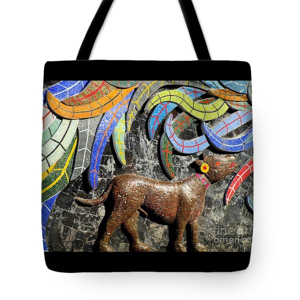 Diego Rivera Mural 4 Tote Bag by Randall Weidner