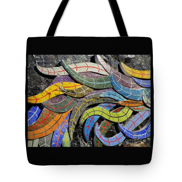 Diego Rivera Mural 6 Tote Bag by Randall Weidner