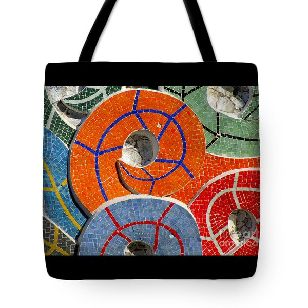 Diego Rivera Mural 8 Tote Bag by Randall Weidner