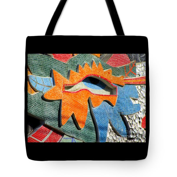 Diego Rivera Mural 9 Tote Bag by Randall Weidner