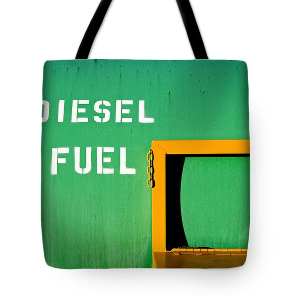 Diesel Green Tote Bag
