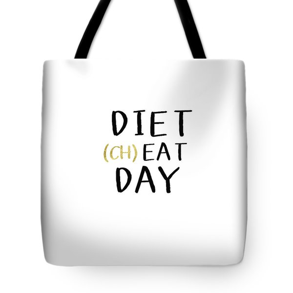 Diet Cheat Day- Art By Linda Woods Tote Bag