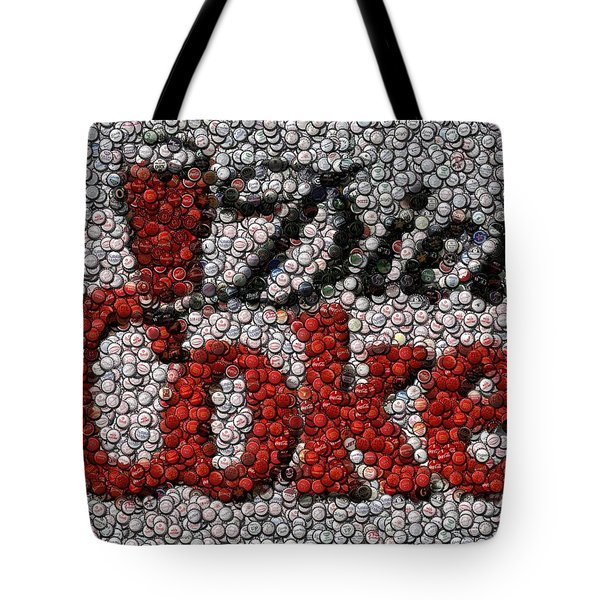 Diet Coke Bottle Cap Mosaic Tote Bag