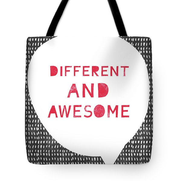 Different And Awesome Red- Art By Linda Woods Tote Bag
