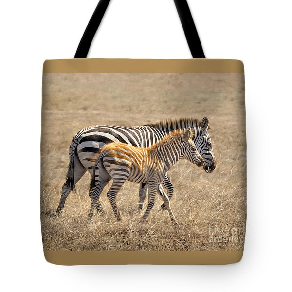 Different Stripes Tote Bag by Alice Cahill