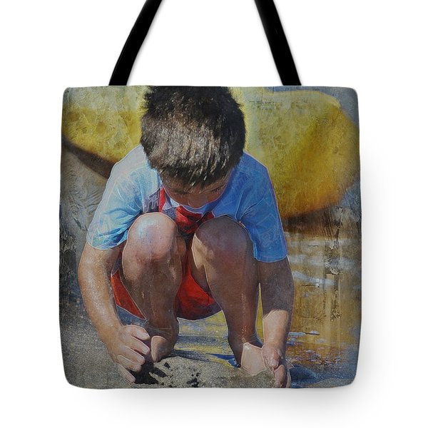 Tote Bag featuring the photograph Digging To China 2 by Kate Word