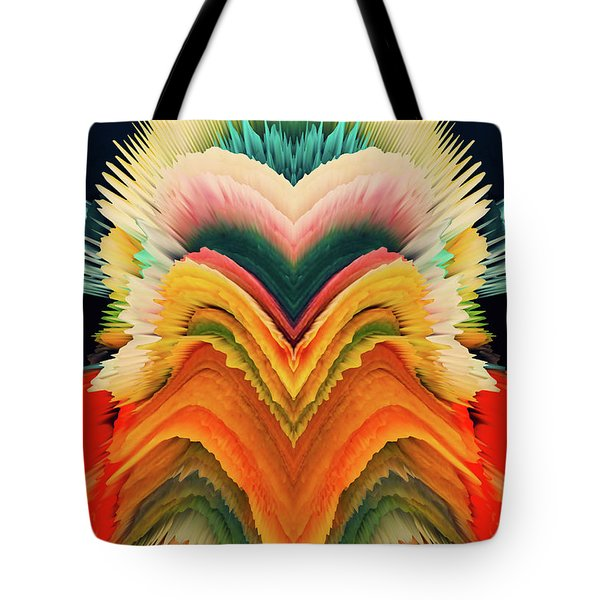 Tote Bag featuring the photograph Vivid Eruption by Colleen Taylor