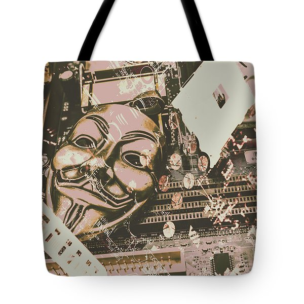 Digital Anonymous Collective Tote Bag
