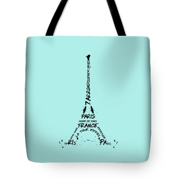 Digital-art Eiffel Tower Tote Bag by Melanie Viola