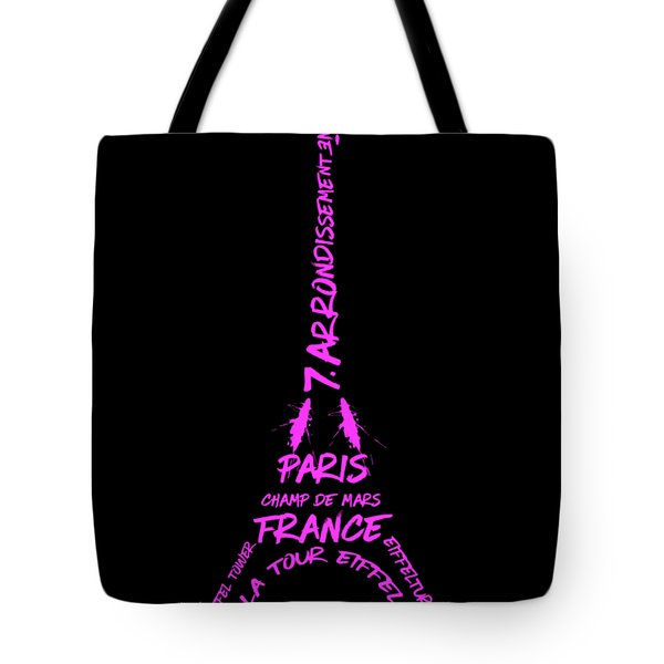 Digital-art Eiffel Tower Pink Tote Bag