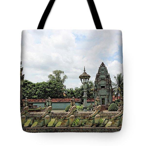 Digital Cambodia Architecture  Tote Bag