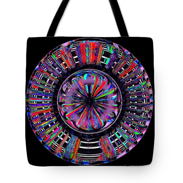 Tote Bag featuring the digital art Digital Color Wheel Two by Visual Artist Frank Bonilla