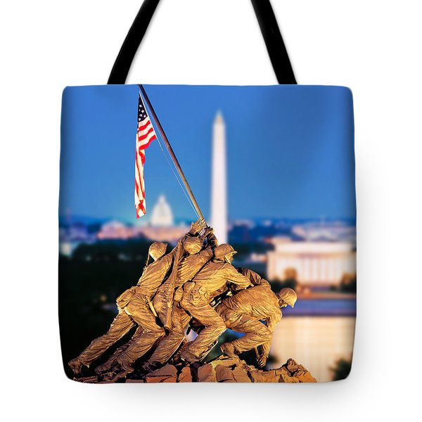 Digital Composite, Iwo Jima Memorial Tote Bag
