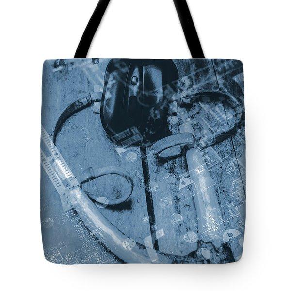 Digital Cyber Attack Tote Bag
