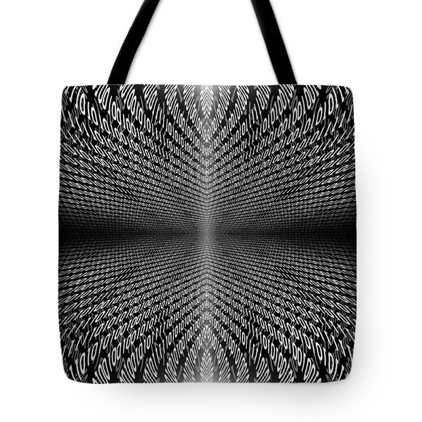 Digital Divide Vortex Tote Bag by Gordon Dean II