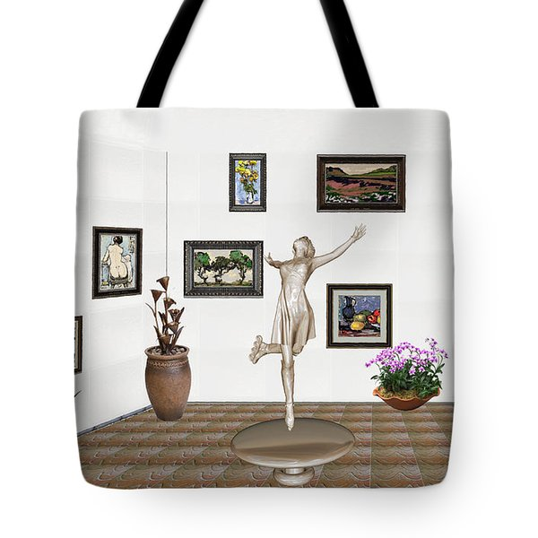 digital exhibition _ A sculpture of a dancing girl 12 Tote Bag