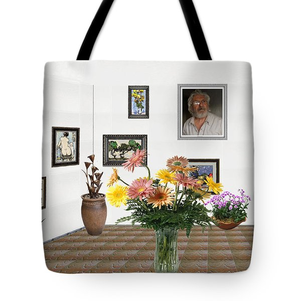 Digital Exhibition _ Flowers In A Vase Tote Bag