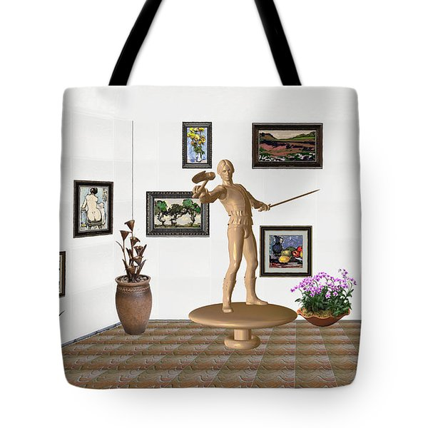 Digital Exhibition _ Guard Of The Exhibition 3 Tote Bag by Pemaro