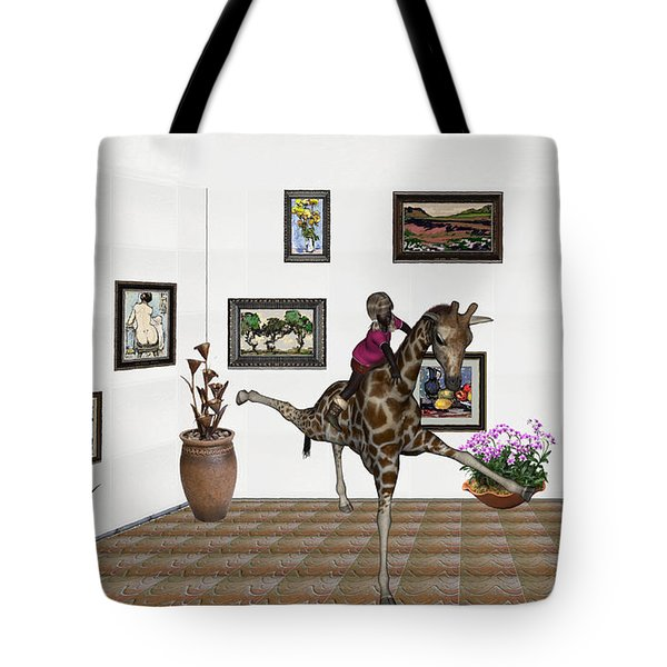 digital exhibition _ It climbed up giraffe Tote Bag
