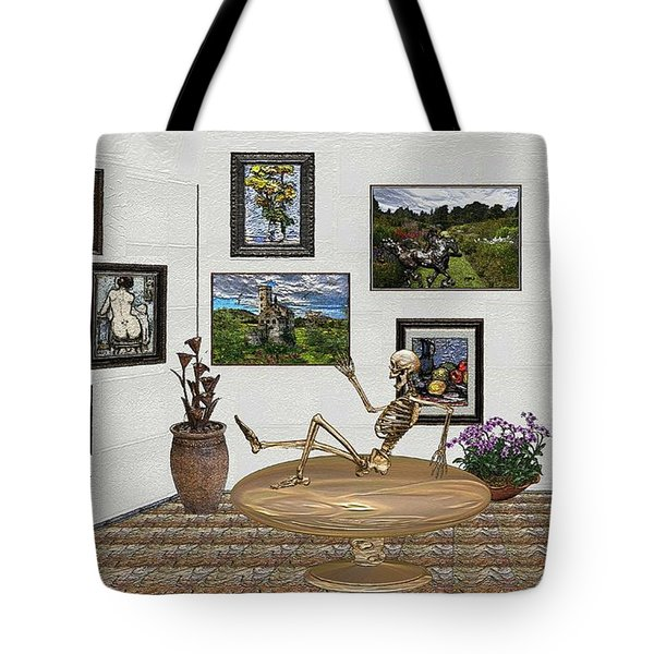 Digital Exhibition _ Relaxation In The Afterlife Tote Bag