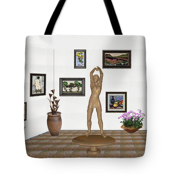 digital exhibition _ Statue of a Statue 23 of posing lady  Tote Bag