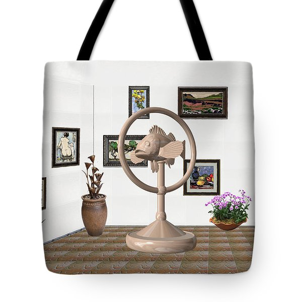 digital exhibition _ Statue of fish 2 Tote Bag