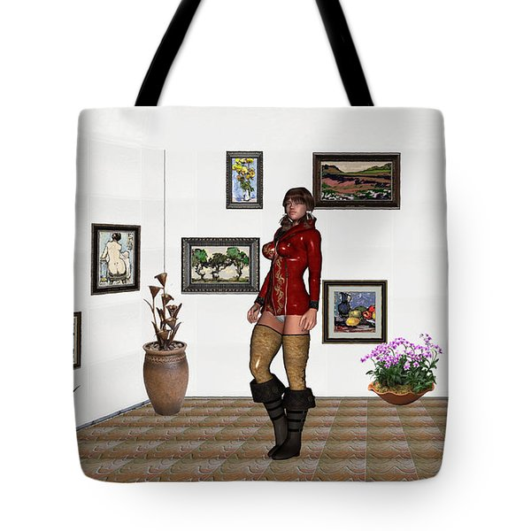 digital exhibition 32  posing  Girl 31  Tote Bag