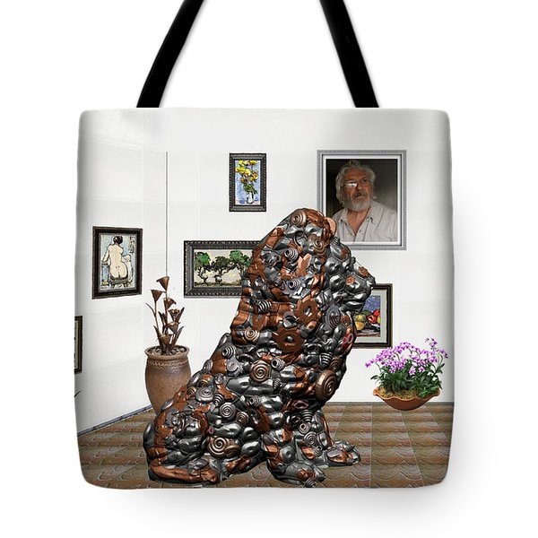 digital exhibition _Modern Statue of scrap Tote Bag
