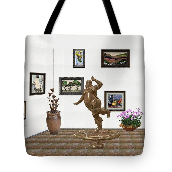 digital exhibition  Statue 24 of posing lady  Tote Bag