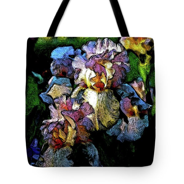 Digital Expressionist Painting Pale Pink Irises 6702 W_4 Tote Bag