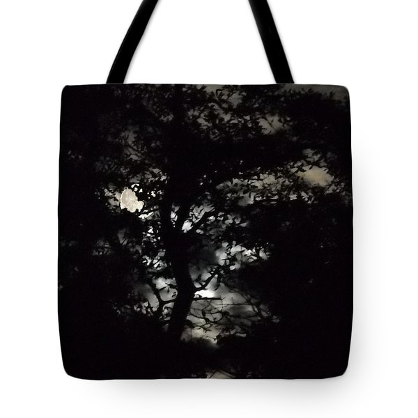 Digital Fine Art Work Full Moon Trees Gulf Coast Florida Tote Bag