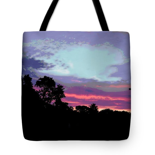 Digital Fine Art Work Sunrise In Violet Gulf Coast Florida Tote Bag