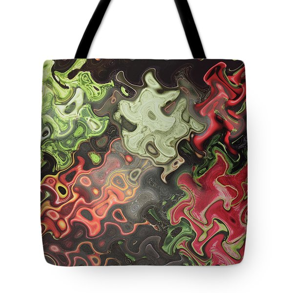 Tote Bag featuring the digital art Digital Graphics Waves Made Of Veggie Salad Kitchen Cuisine Chef Christmas Holidays Birthday Mom Dad by Navin Joshi