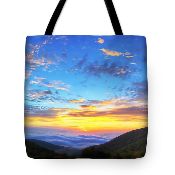 Digital Liquid - Good Morning Virginia Tote Bag