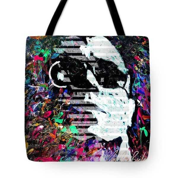 digital Lou Reed Tote Bag