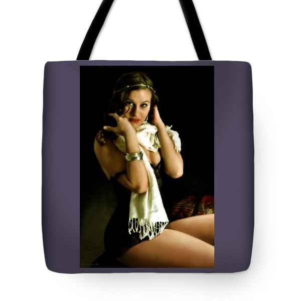 Digital Model Tote Bag