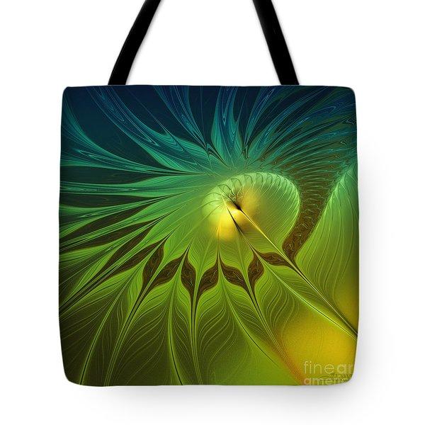 Digital Nature Tote Bag by Jutta Maria Pusl