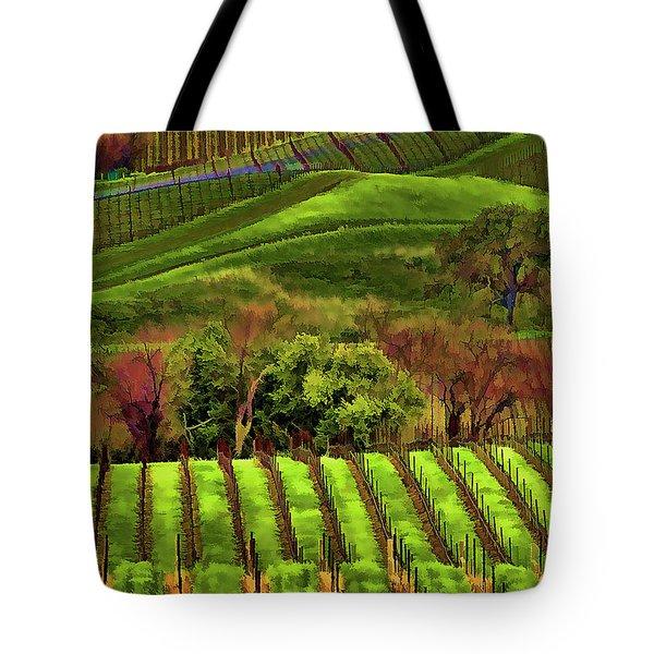 Enhanced Stunning Napa Valley Vineyards Vibrant  Tote Bag