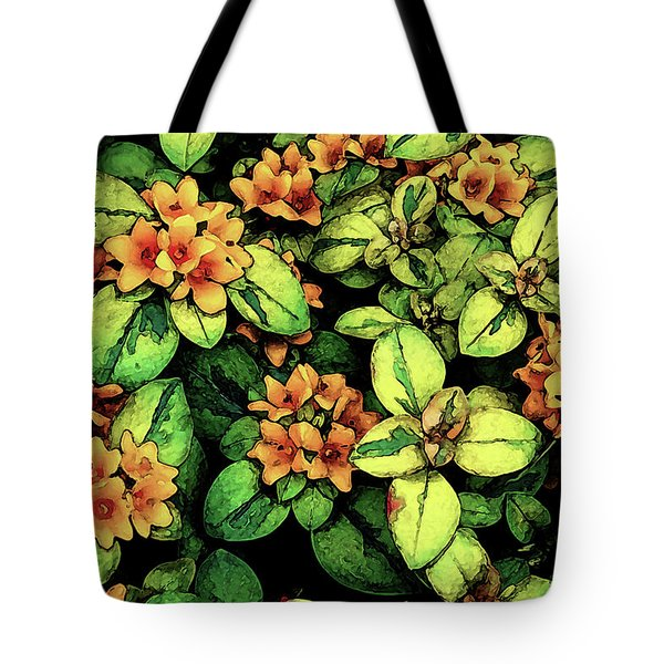 Digital Painting Quilted Garden Flowers 2563 Dp_2 Tote Bag