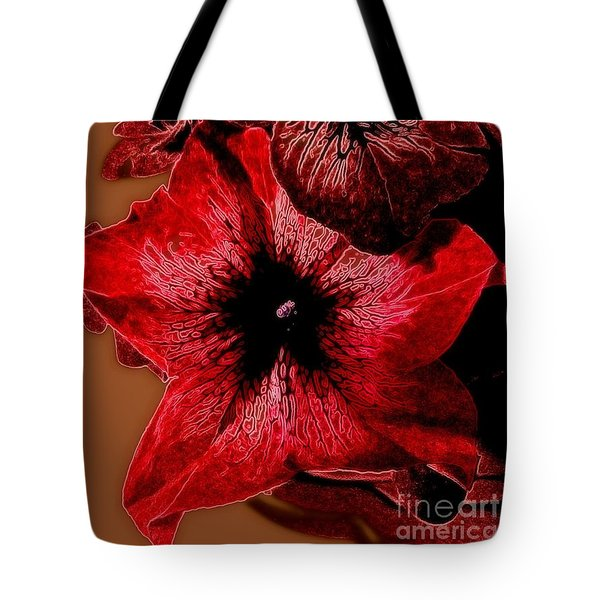 Digital Petunia Tote Bag