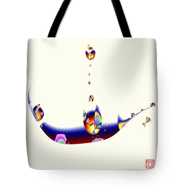 Digital Picasso - Cat In A Boat Tote Bag