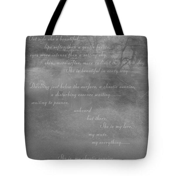 Digital Poem Tote Bag