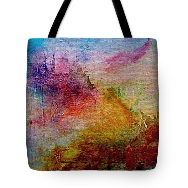 1a Abstract Expressionism Digital Painting Tote Bag